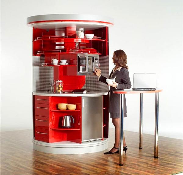 Compact-Kitchen-Design-l-Red-Kitchen