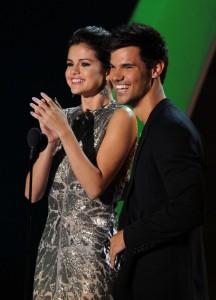 Selena Gomez og Taylor Lautner.