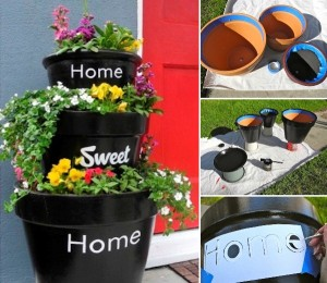 stacked-planters-Home-Sweet-Home