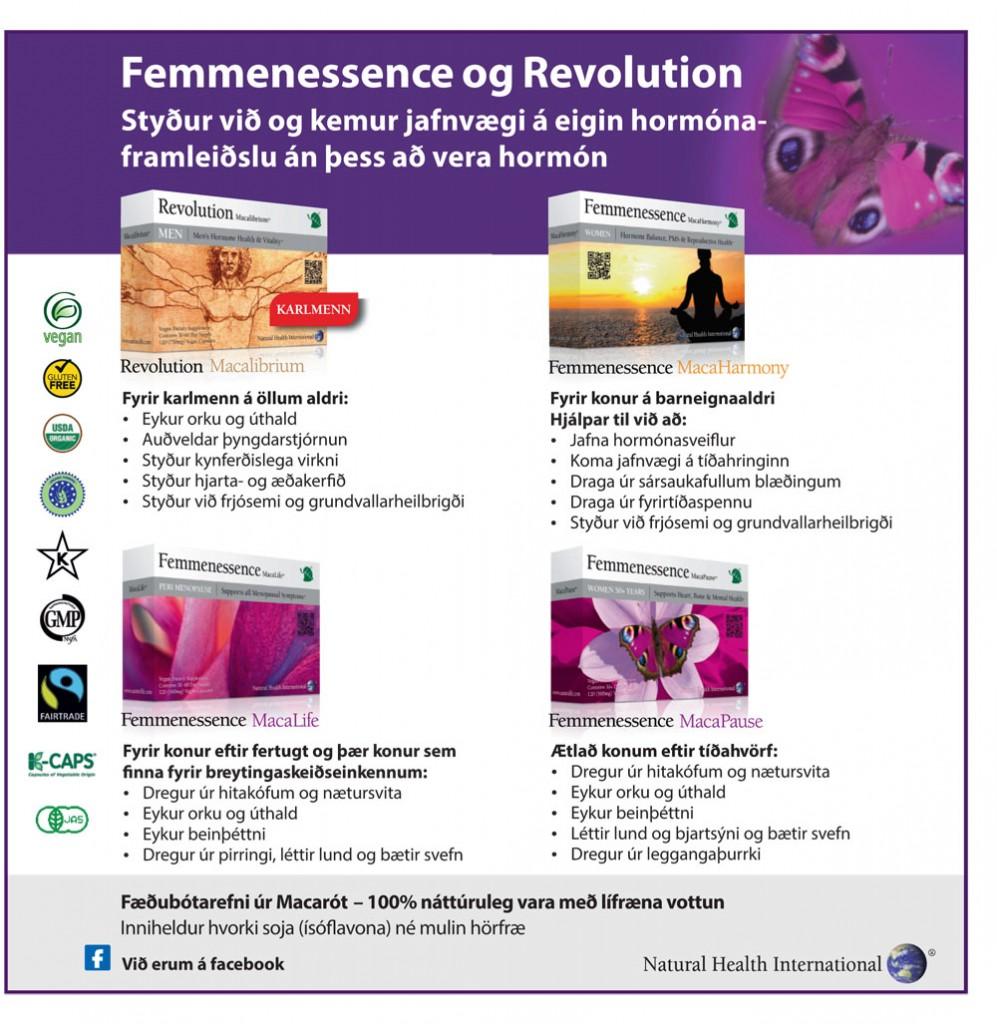 Femmenessence og Revolution augl ágúst 2013