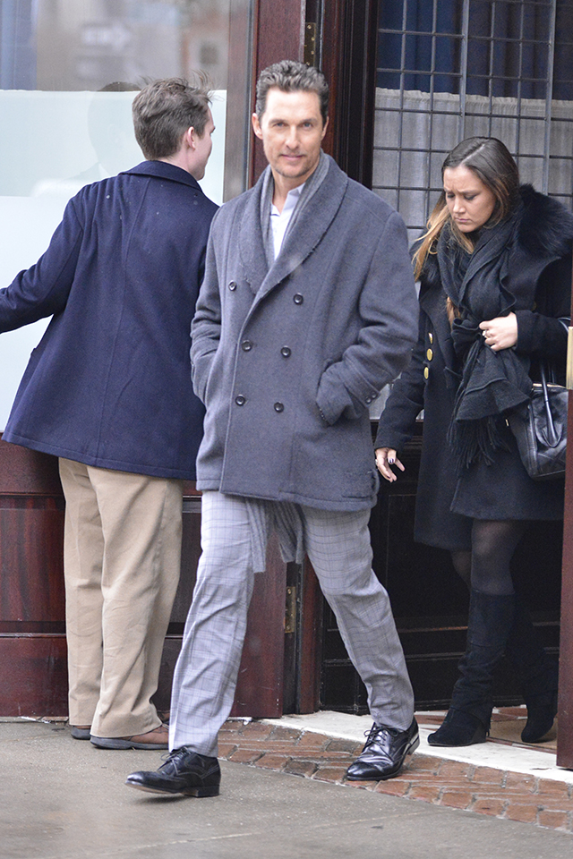 Matthew McConaughey and wife leave hotel