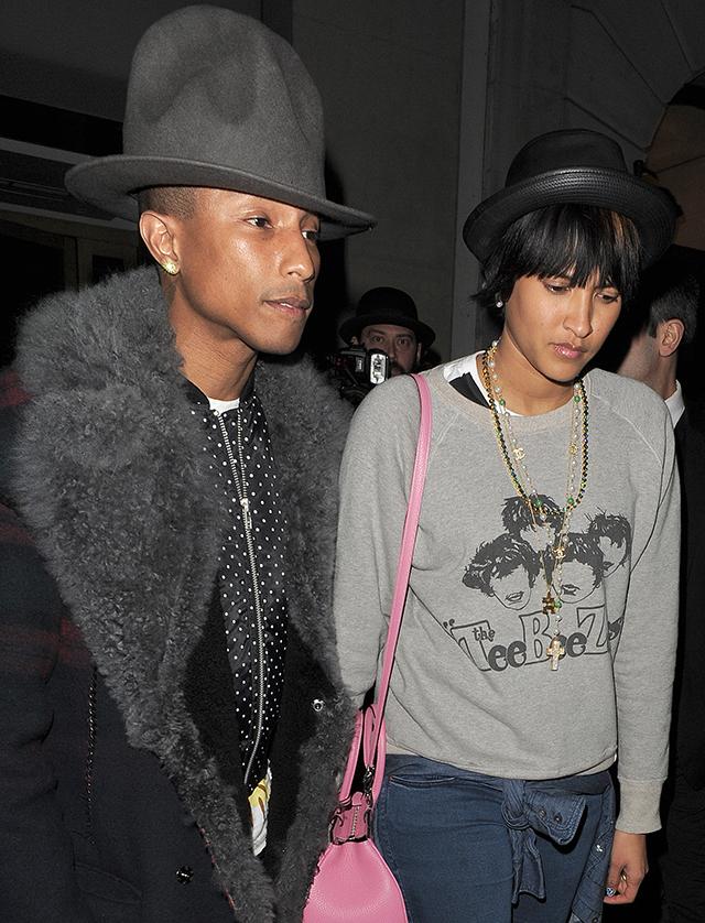 Pharrell Williams and wife Helen Lasichanh leaving Nobu Berkeley together