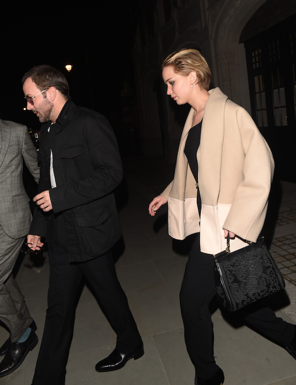 Jennifer Lawrence and Nicholas Hoult Dine with Tom Ford