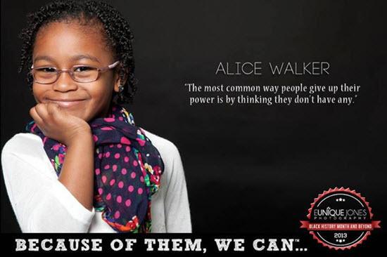 Alice Walker er bandarískur rithöfundur og ljóðskáld og hefur hlotið hin eftirsóttu Pulitzer verðlaun en heiðurinn hlaut hún árið 1983 fyrir að rita skáldsöguna The Color Purple.