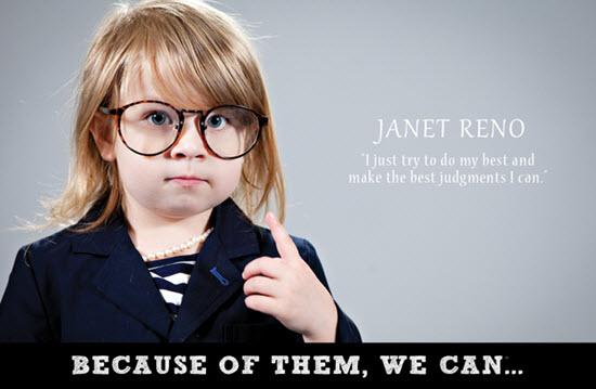 Janet Reno setti mark sitt á mannkynssöguna árið 1993, en hún er fyrsta bandaríska konan til að gegna embætti ríkissaksóknara og þjónaði í forsetatíð Bill Clinton.