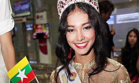 May Myat Noe, winner of Miss Asia Pacific World 2014.