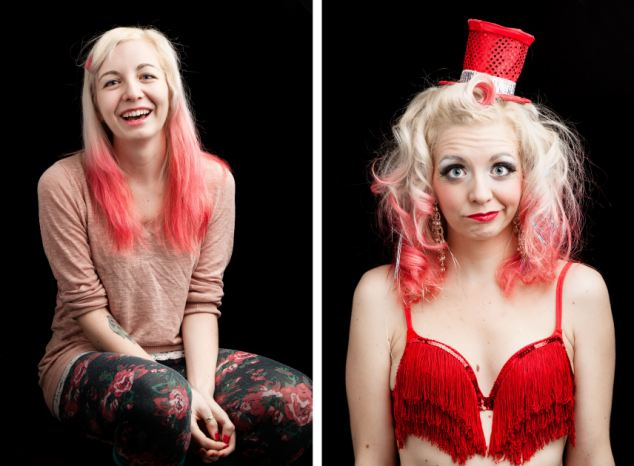 'Burlesque' performers in and out of costume, America - Sep 2014