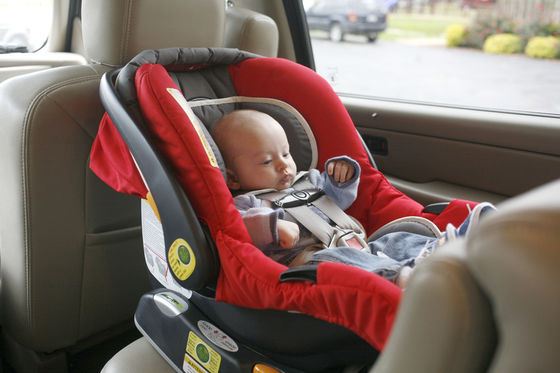 There's No Space Between the Car Seat and the Front Seat
