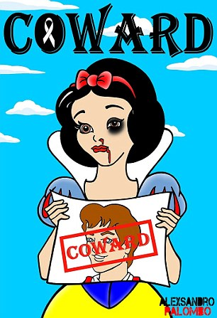Snow White is portrayed as a battered wife