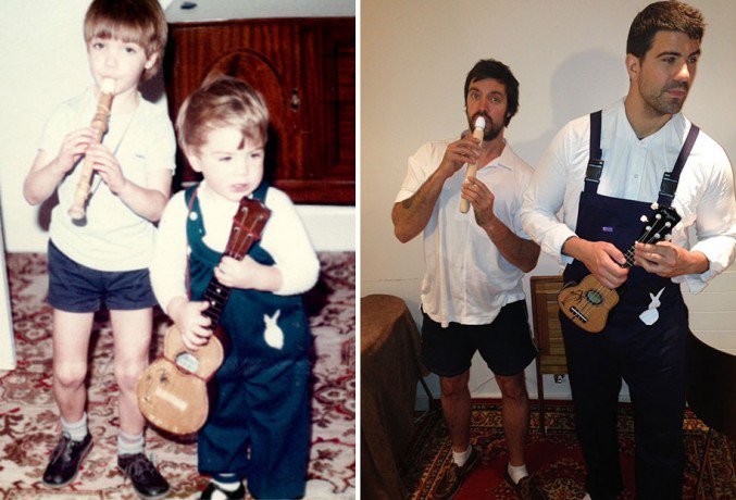 Brothers-Recreate-Childhood-Photos-for-Parents-Wedding-Anniversary-3
