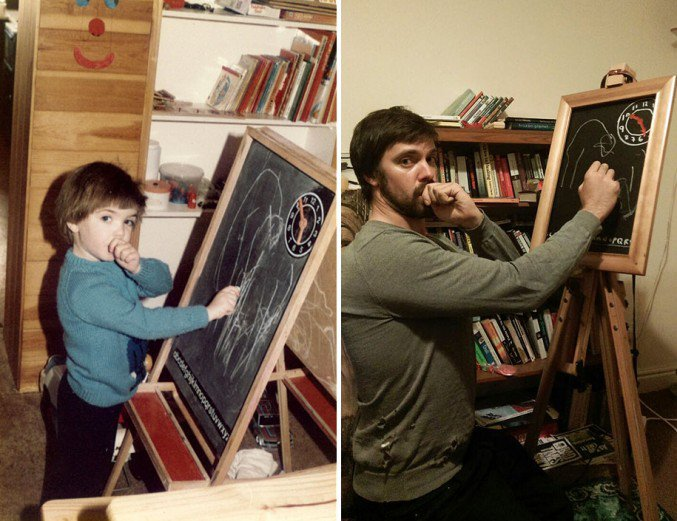 Brothers-Recreate-Childhood-Photos-for-Parents-Wedding-Anniversary-4