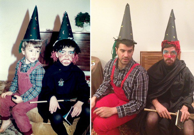 Brothers-Recreate-Childhood-Photos-for-Parents-Wedding-Anniversary-5
