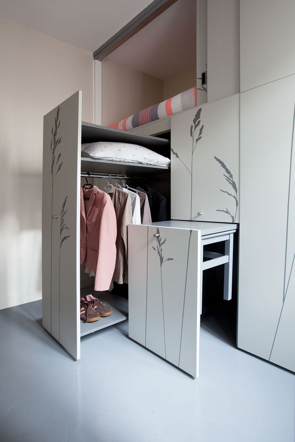 Compact Apartment In Paris by Kitoko Studio 14 Incredibly Small Apartment in Paris Reduces Functions to Minimum