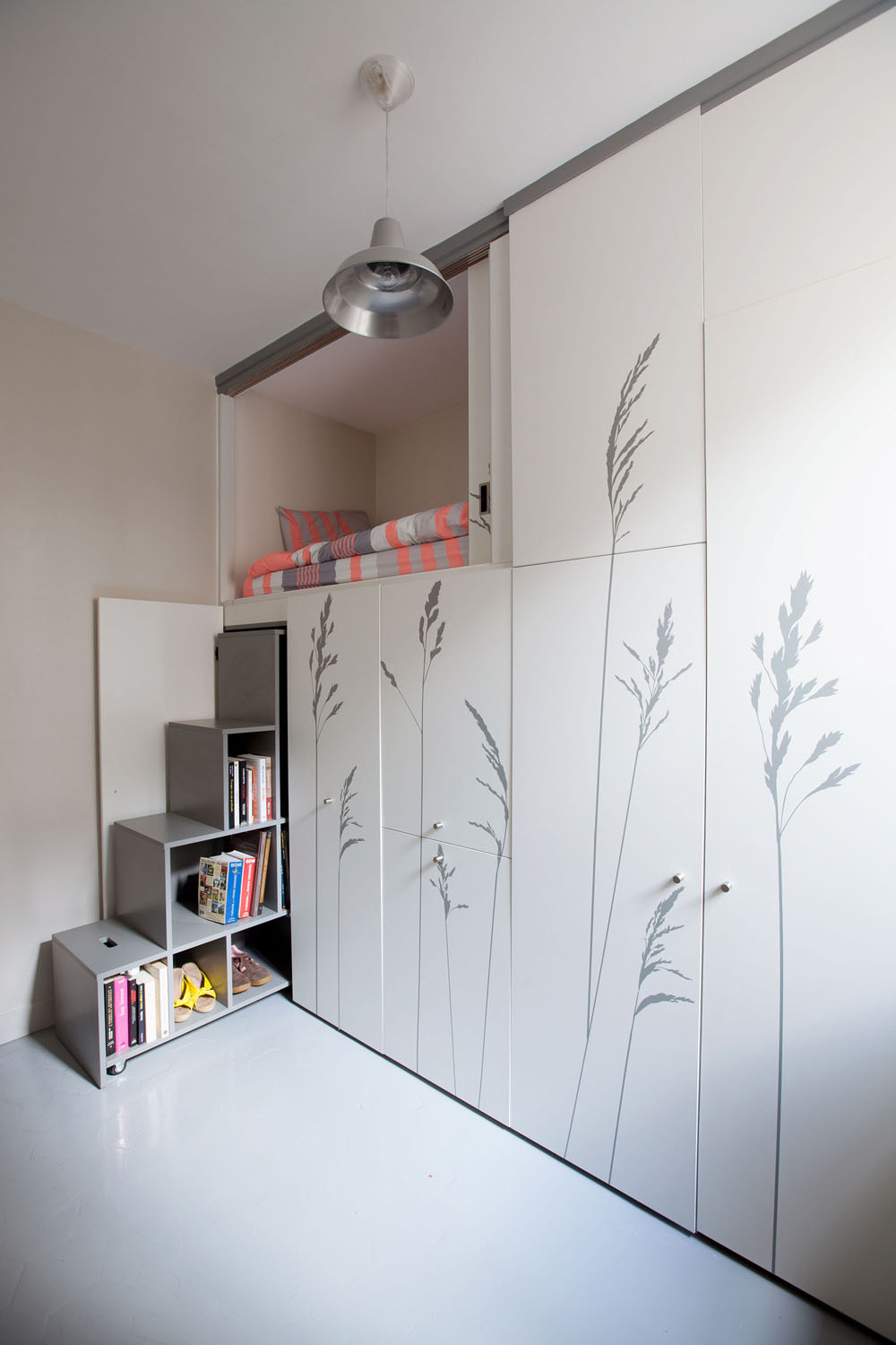 Compact Apartment In Paris by Kitoko Studio 2 Incredibly Small Apartment in Paris Reduces Functions to Minimum