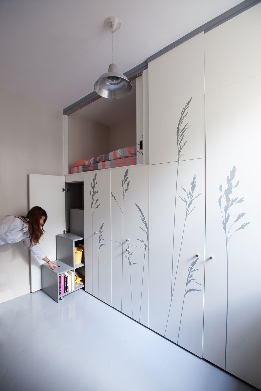 Compact Apartment In Paris by Kitoko Studio Incredibly Small Apartment in Paris Reduces Functions to Minimum