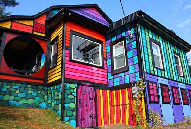 Rainbow House In Brooklyn