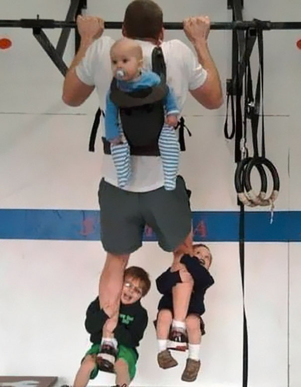 Who Needs Weights When You Have Three Kids