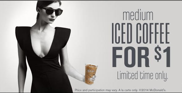 And this McDonald's coffee drinker wrapped her ghostly appendage around a fresh iced coffee.
