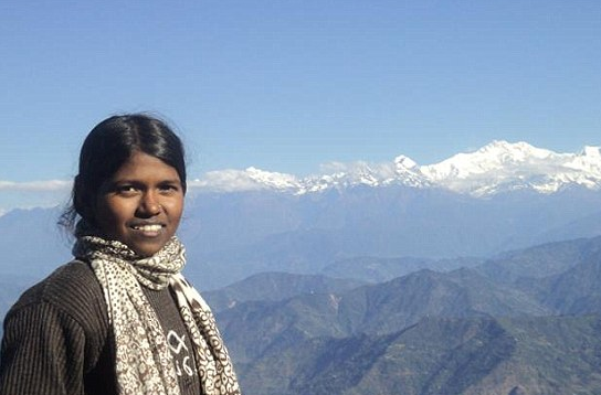 The 13-year-old girl who became the youngest climber to scale Mount Everest.