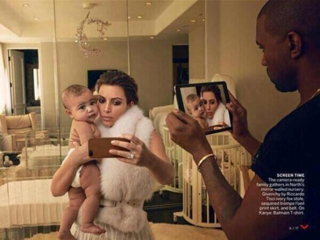 That time Kimye and baby North accidentally revealed themselves to be vampires without reflections in the pages of Vogue.