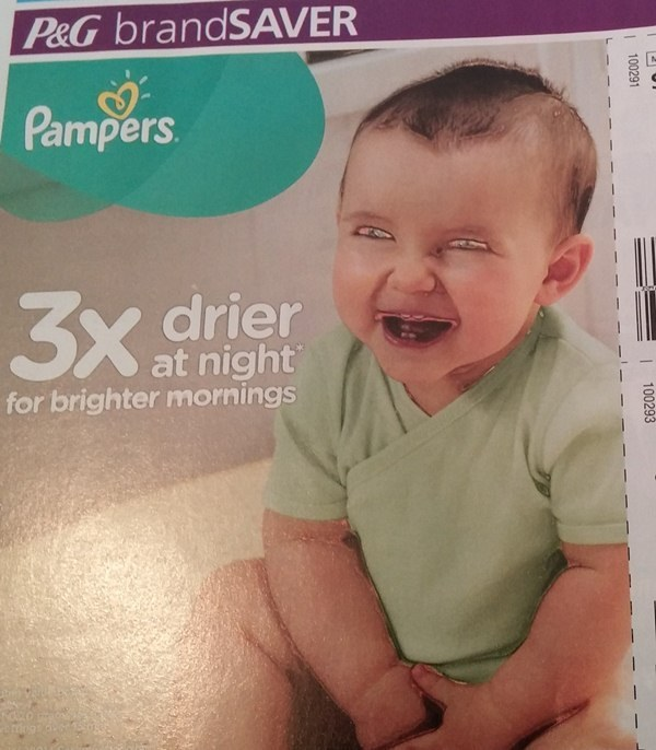 The time Pampers used this terrifying demon baby to sell its diapers.