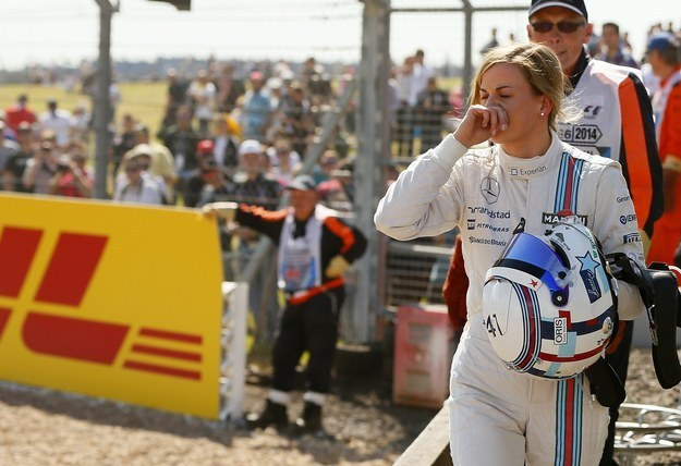 The first woman to take part in a Formula One race weekend in 22 years.