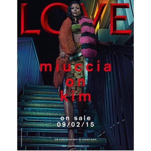 Kim Kardashian front of LOVE magazine Grab by Metro pic desk