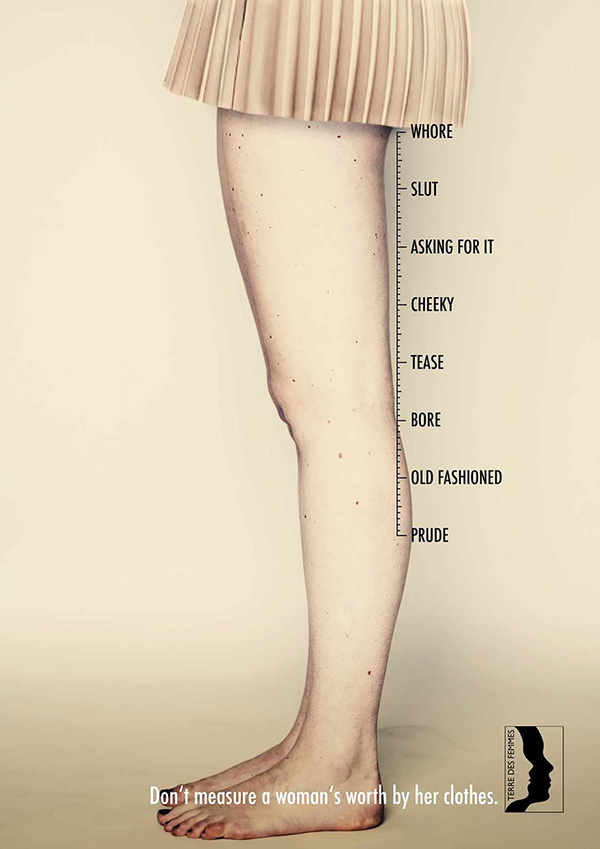 ad to stop judging women clothes
