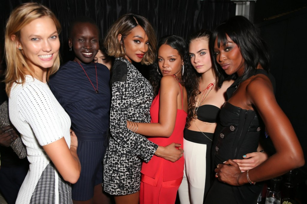 Karlie-Kloss-Alek-Wek-Jourdan-Dunn-Rihanna-Cara-Delevingne-Naomi-Campbell