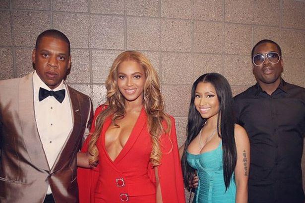 Beyonce-Jay-Z-and-Nicki-Minaj-at-Mayweather-VS-Pacquiao