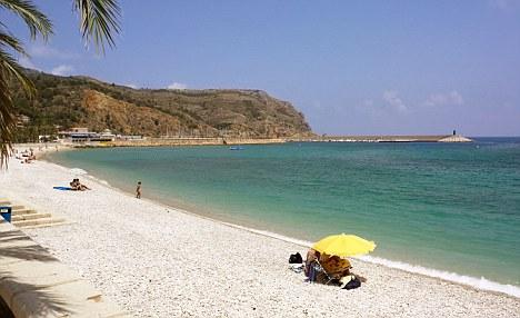 Beach at Alicante in Spain.