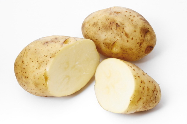 Slices of potatoes