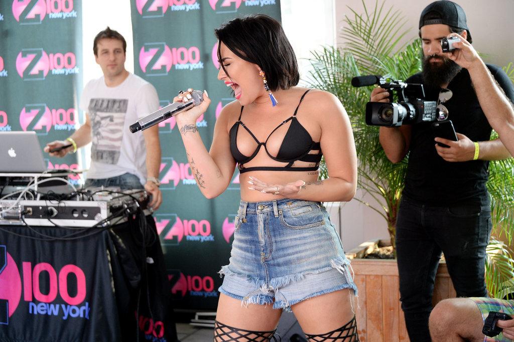 Demi-Lovato-Tiny-Bikini-Top