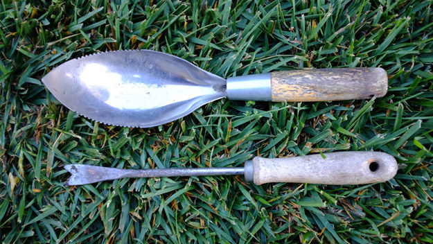 Your pesticide-y garden tools.
