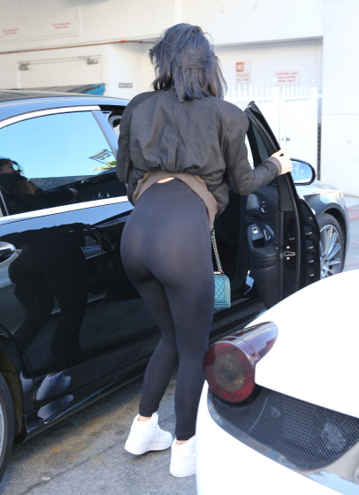 51901088 Reality star Kylie Jenner is seen getting a ride from her boyfriend Tyga at Cedars-Sinai Hospital in Los Angeles, California after visiting troubled athlete Lamar Odom on November 6, 2015. Kylie was rocking some see through leggings during her hospital visit! FameFlynet, Inc - Beverly Hills, CA, USA - +1 (818) 307-4813