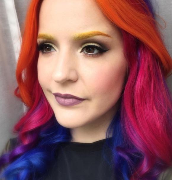 New rainbow eyebrows trend