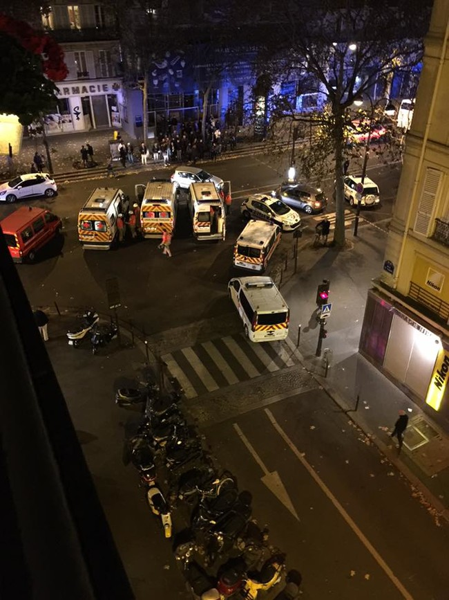 """""""I live on boulevard Beaumarchais which was used to create a field hospital for the people who were lucky enough to make it out of the Bataclan last night."""""""