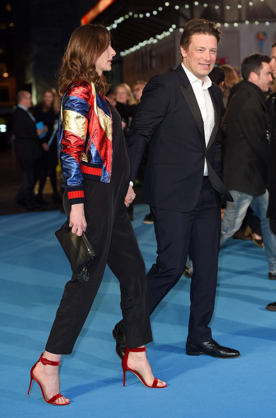 Jools and Jame Oliver attends the European Premiere of 'Eddie the Eagle' at Odeon Leicester Square, London, UK. 17/03/2016 Credit Photo ©Karwai Tang For more information, please contact: Karwai Tang 07950 192531 karwai@karwaitang.com