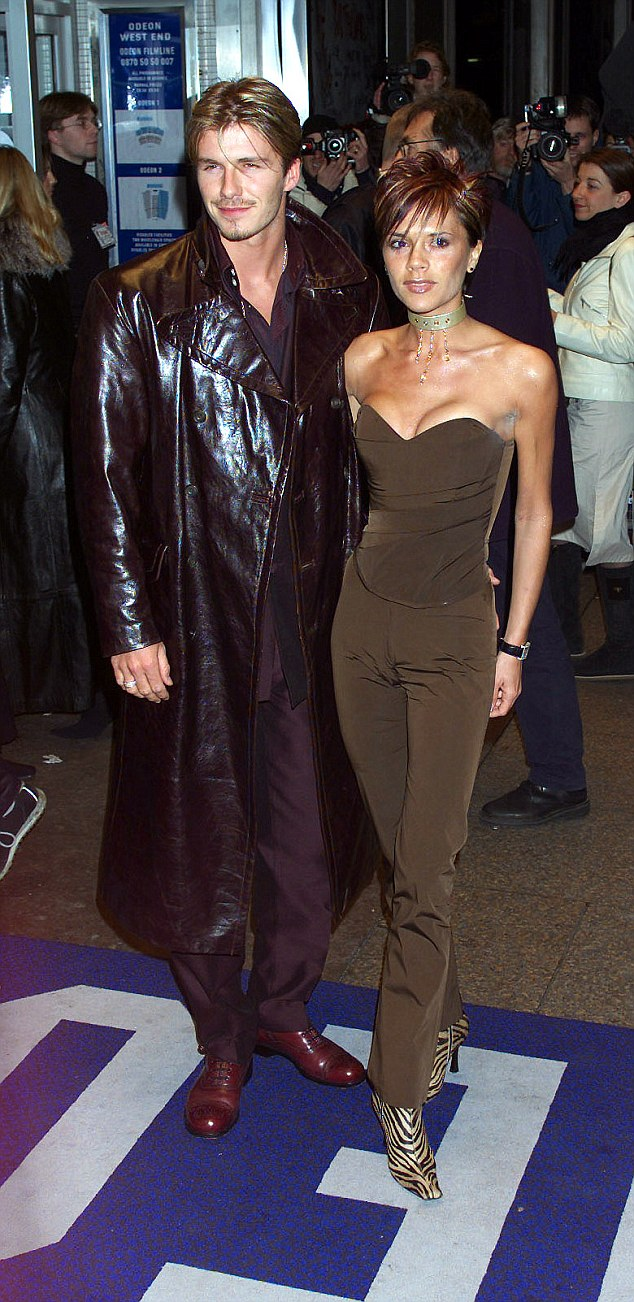 DAVID AND VICTORIA BECKHAM ARRIVE FOR THE CHARITY SCREENING OF WITHNAIL AND I TONIGHT IN LEICS SQ PIC G JEPSON