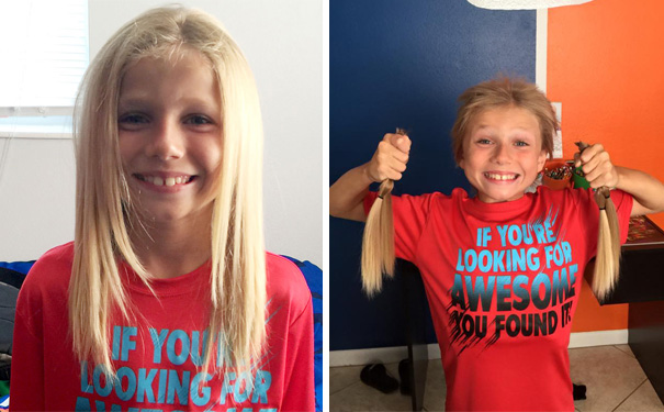 This 8-Year-Old Boy Was Bullied For 2 Years While Growing His Hair Long To Make Wigs For Kids With Cancer