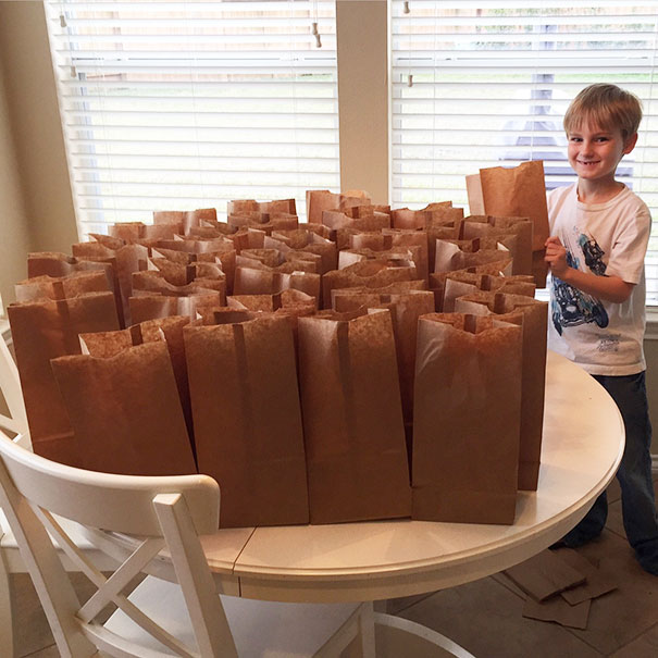 My Son Wanted To Use The $120 He Saved This Year To Help The Homeless. He Made Them Lunches