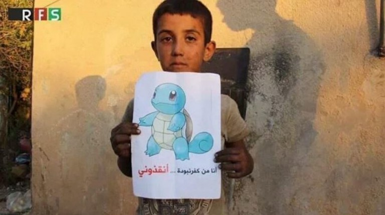 Syrian-Children-Hold-Pokemon-Pictures-so-People-Can-Find-Them-and-Save-Them-2-768x428