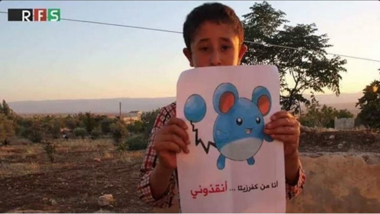 Syrian-Children-Hold-Pokemon-Pictures-so-People-Can-Find-Them-and-Save-Them-3-768x433