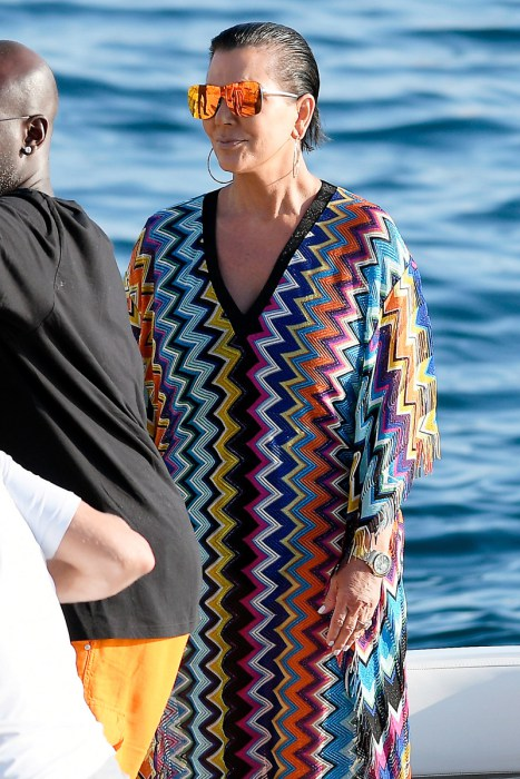 ** RESTRICTIONS: ONLY UNITED STATES ** Antibes, FRANCE - Antibes, France - Kourtney Kardashian is spotted on vacation with mom Kris Jenner and Corey Gamble. The trio keeps it casual as they take a ride on a boat while relaxing on the serene blue waters of France. Kourtney shows a little midriff in a crop top and tie pants as she waits on the dock.    AKM-GSI       September 7, 2016 To License These Photos, Please Contact : Maria Buda (917) 242-1505 mbuda@akmgsi.com sales@akmgsi.com Mark Satter (317) 691-9592 msatter@akmgsi.com sales@akmgsi.com www.akmgsi.com  AKM-GSI 7 SEPTEMBER 2016  To License These Photos, Please Contact :  Maria Buda  (917) 242-1505  mbuda@akmgsi.com or    Mark Satter  (317) 691-9592  msatter@akmgsi.com  sales@akmgsi.com
