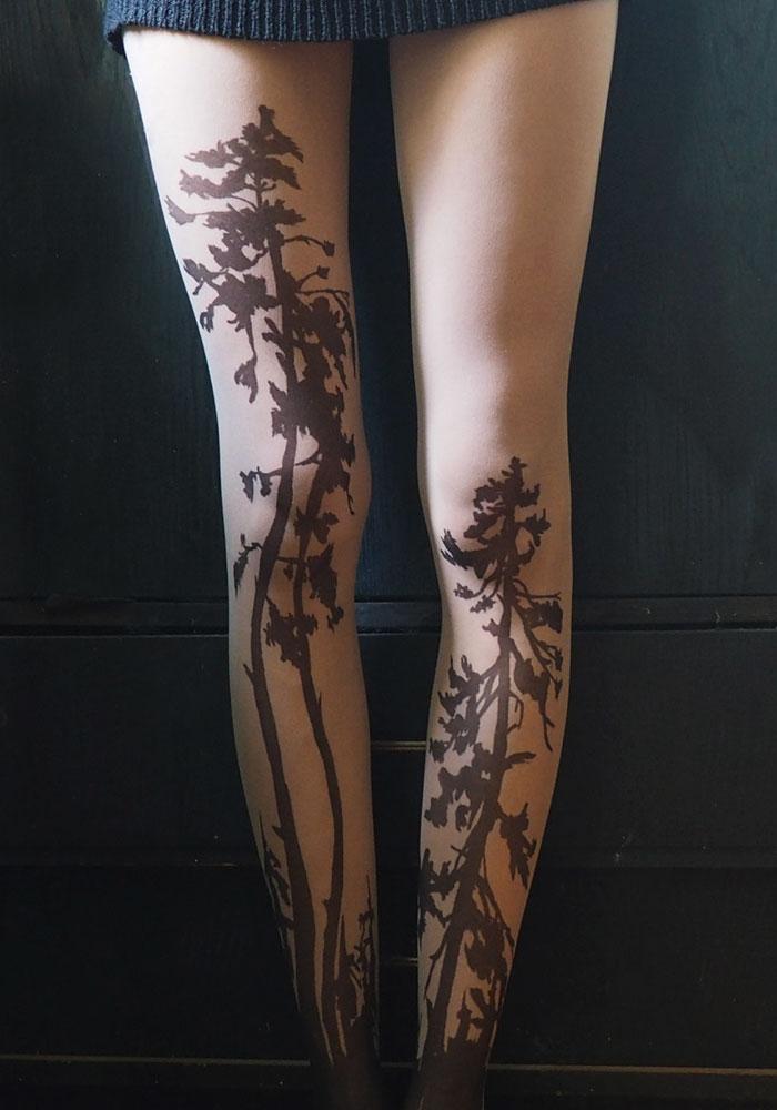 Forest Tattoo Tights