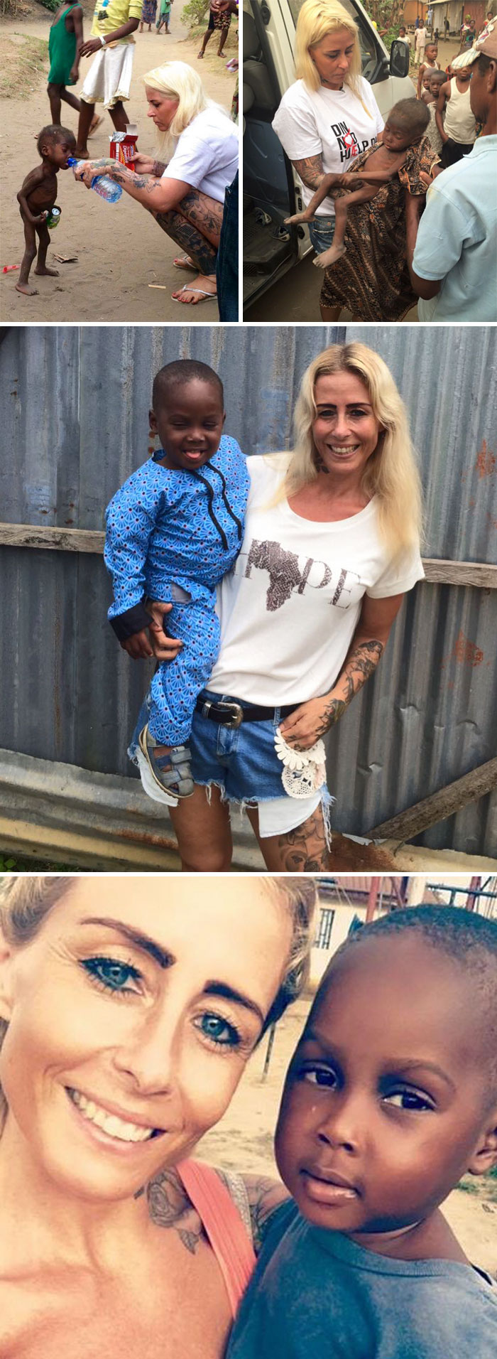 Danish Woman Rescues 2-Year-Old Nigerian Boy Who Was Abandoned And Left To Die Because His Parents Thought He Was A Witch