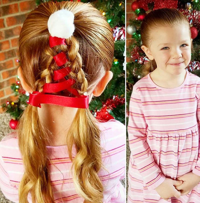 dad daughter amazing Christmas hair