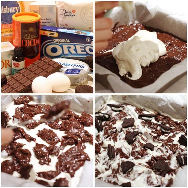Oreo brownie ostakaka